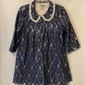 By Stella Lace Dress Coat Size Medium New